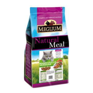 Сухой корм Meglium длякошек сговядиной, курицей иовощами