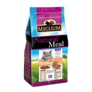Сухой корм Meglium длякошек скурицей ииндейкой
