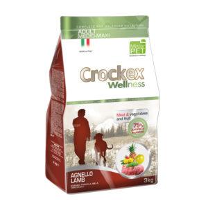 Сухой корм Crockex Wellness длясобак средних икрупных пород сягненком ирисом