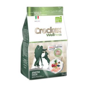 Сухой корм Crockex Wellness длясобак средних икрупных пород суткой ирисом