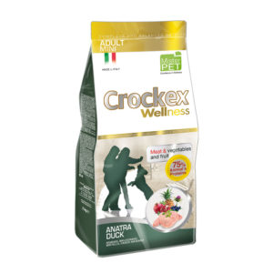 Сухой корм Crockex Wellness для собак мелких пород с уткой и рисом