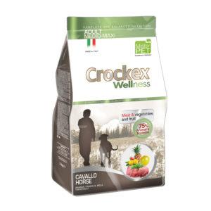 Сухой корм Crockex Wellness длясобак средних икрупных пород скониной ирисом