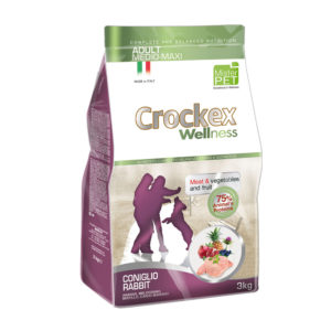 Сухой корм Crockex Wellness длясобак средних икрупных пород скроликом ирисом