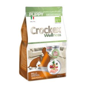 Сухой корм Crockex Wellness длященков средних икрупных пород скурицей ирисом